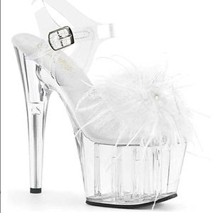 Adore 708mf pleasers clear and white
